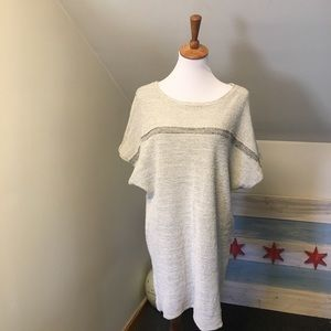 Billy Reid Short Sleeve Sweater Tunic Dress S